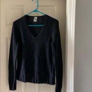 Women's Vneck Black Sweater. The GAP. Size medium